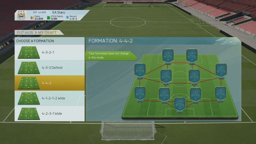 FUT 16 Draft Mode